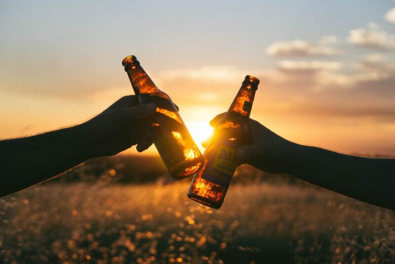пиво и закат