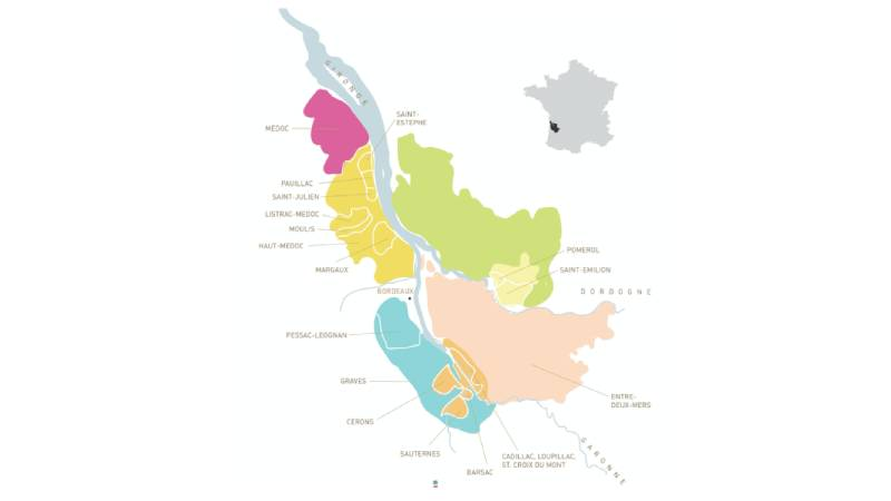 Бордо карта