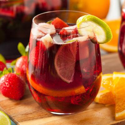 апероль шприц с фруктами