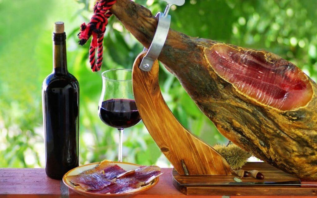 испанское вино и хамон