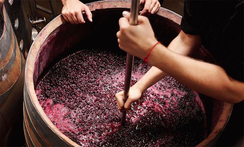 как мять виноград
