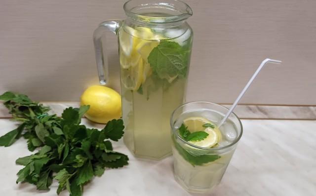 домашний лимонад мята