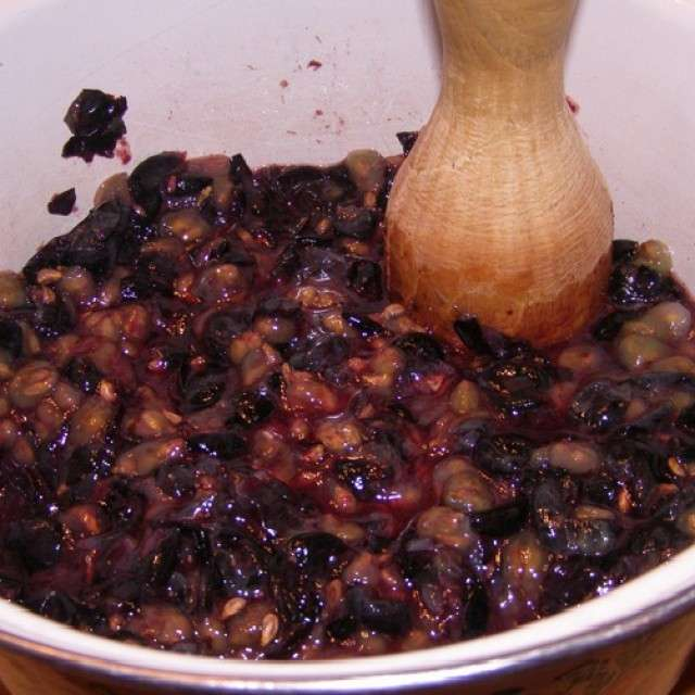домашнее вино из винограда как давить виноград