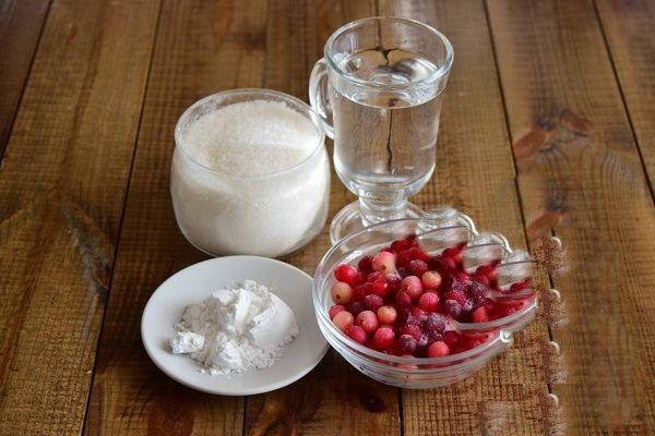 кисель из ягод ингредиенты