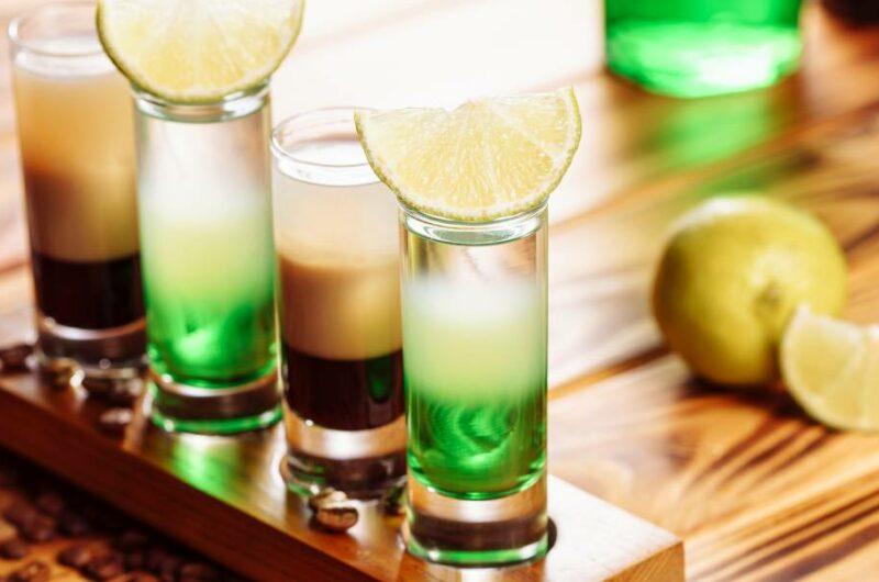 Как приготовить коктейль шот Зеленый Мексиканец