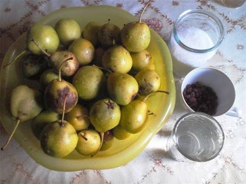 ингредиенты для вина из груш
