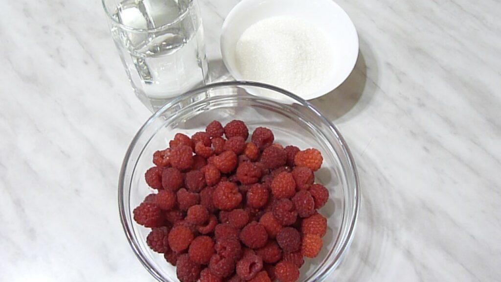 ингредиенты для вина из малины