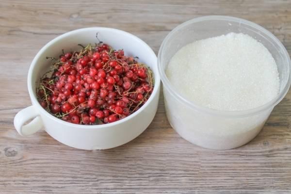 компот из красной смородины ингредиенты