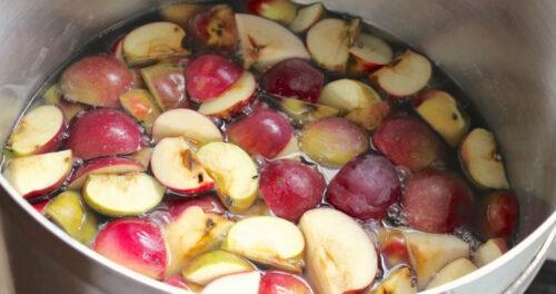 подготовка яблок для яблочного самогона