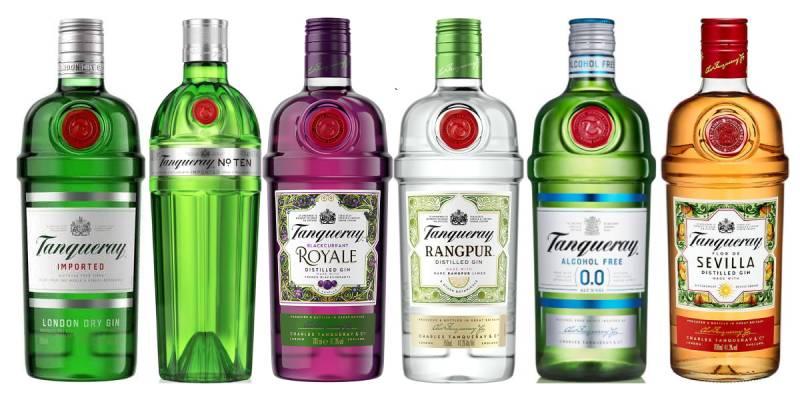 танкери виды джина в зеленой бутылке