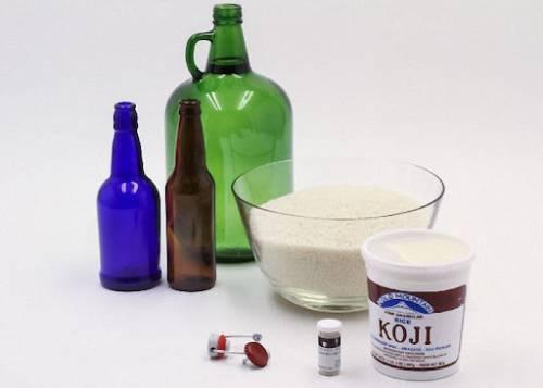 ингредиенты для домашнего саке