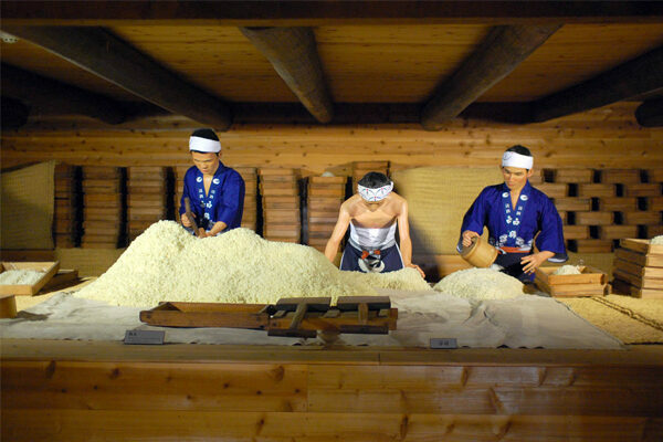 подготовка риса для саке