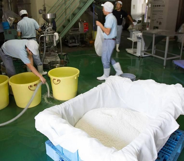 шлифование риса для саке