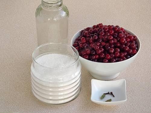 ингредиенты для наливки из клюквы