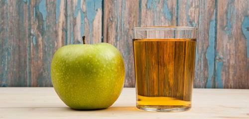 подготовка сока для яблочной наливки